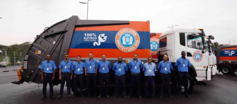 Rio de Janeiro é a primeira capital a ter frota de caminhões de coleta de resíduos 100% elétricos